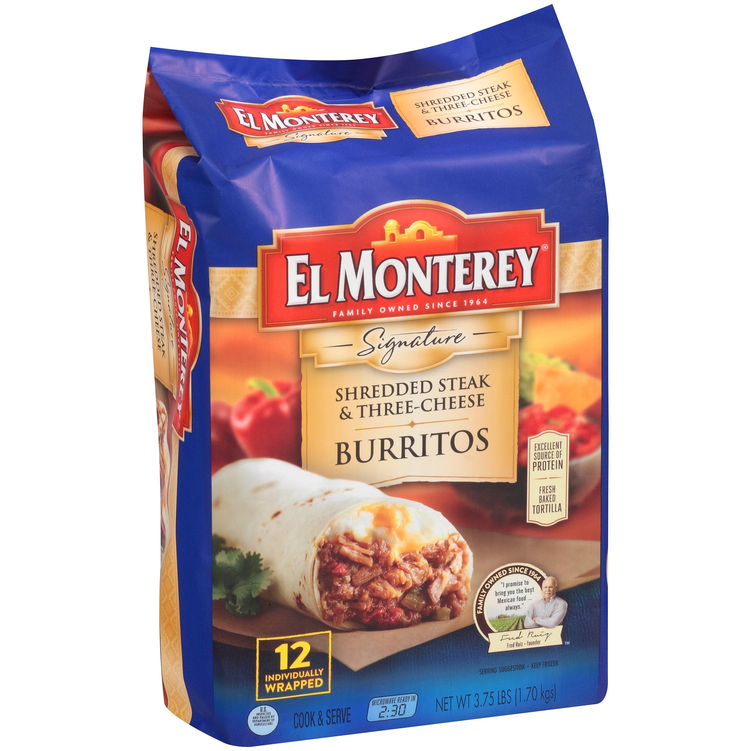 El Monterey® Signature Chicken U0026 Monterey Jack Cheese Burritos 3.75 Lbs.  Bag   Walmart.com
