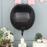 BalsaCircle 2 pcs 18-Inch wide 4D Round Balls Orbs Mylar Foil Balloons - Wedding Event Birthday Party Wholesale Decorations Supplies
