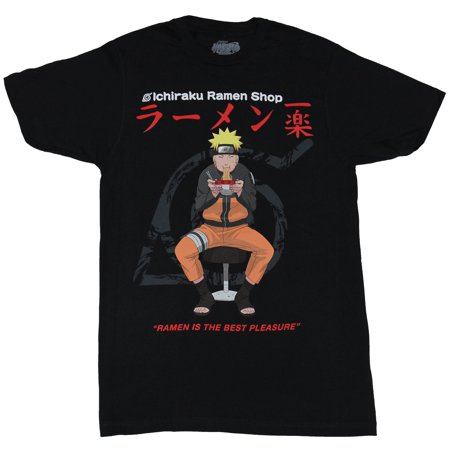Naruto Mens T-Shirt - Ramen is the Best Pleasure Chowing Down