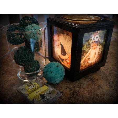 Coo Candles Memory Box Picture Frame, Lamp, and Electric Wickless Candle Warmer or Oil Burner Lamp Combo - Memory Candles
