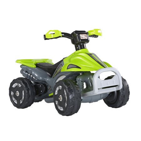 Battery Operated Ride On Toys >> Kids Ride On 6v Battery Powered Atv Quad Green