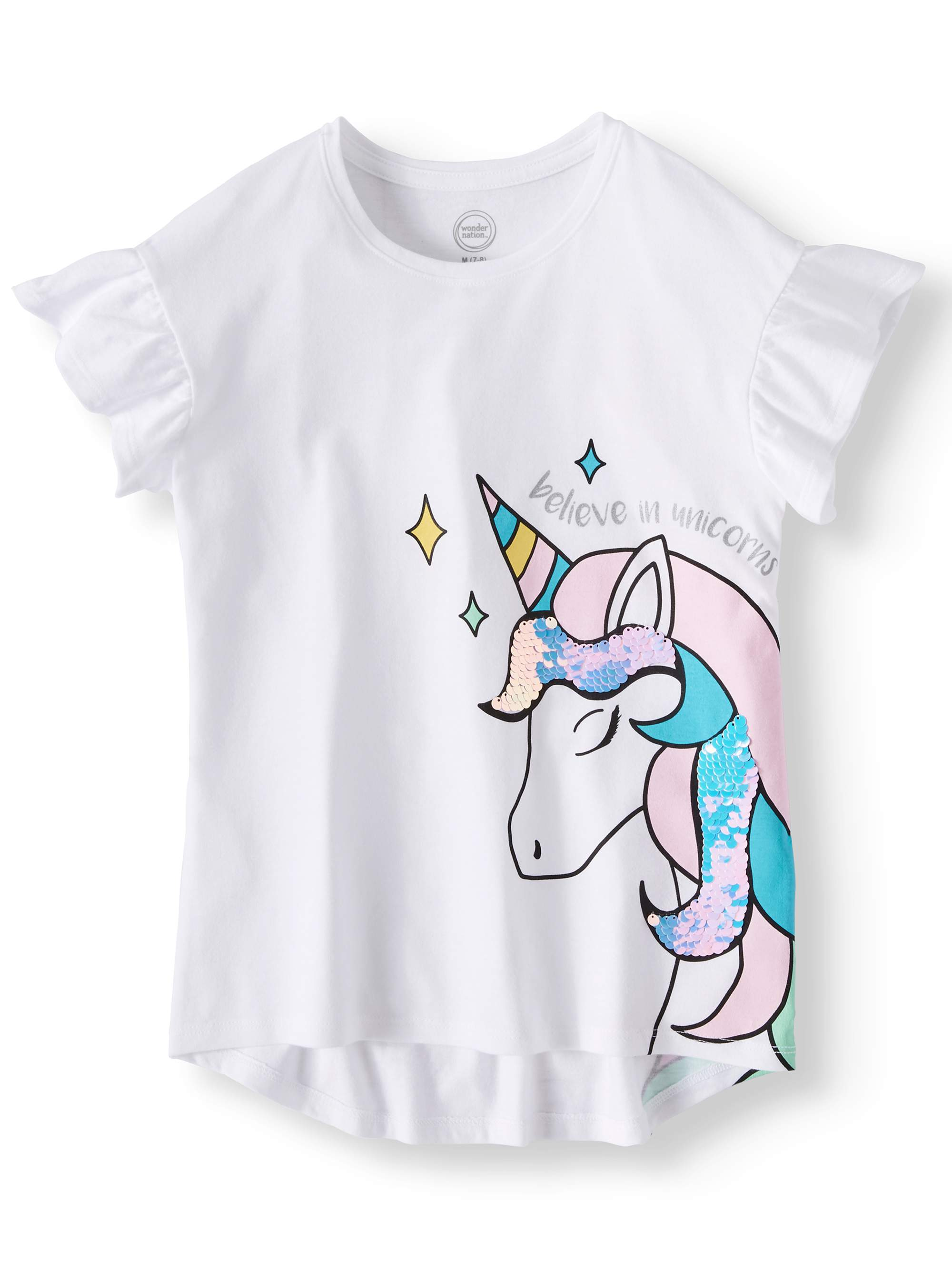 Short Sleeve Embellished Tee (Little Girls, Big Girls, & Plus)
