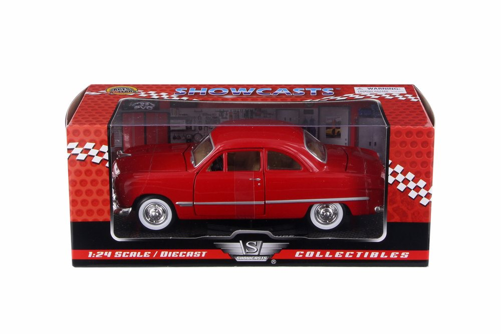 1949 Ford Coupe Hard Top, Red - Motor Max 73213AC/R - 1/24 Scale Diecast  Model Toy Car