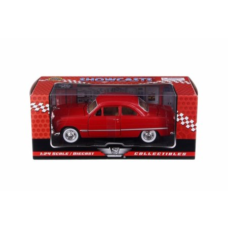 1949 Ford Coupe Hard Top, Red - Motor Max 73213AC/R - 1/24 Scale Diecast Model Toy Car 1949 1950 Ford