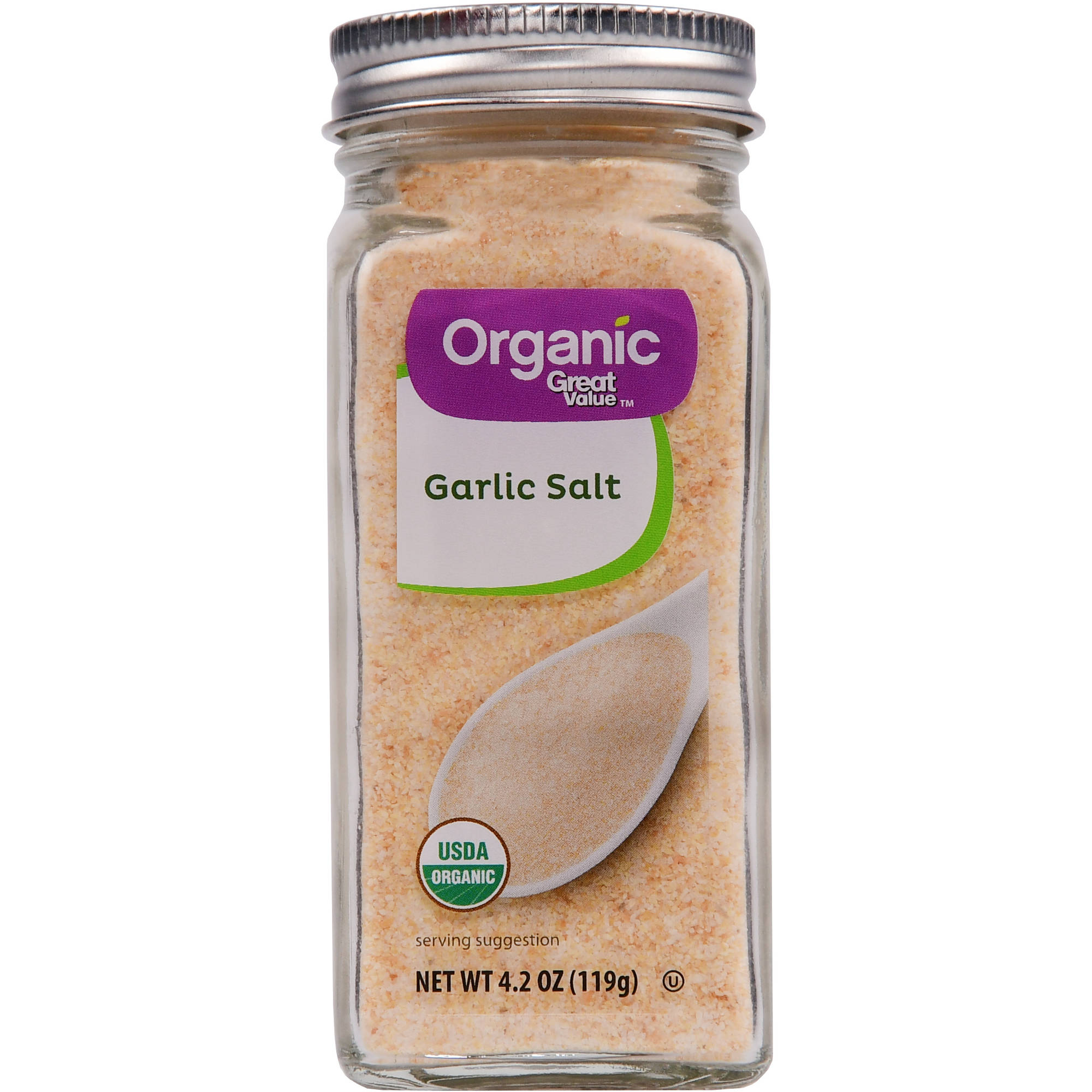 (2 Pack) Great Value Organic Garlic Salt, 4.2 oz