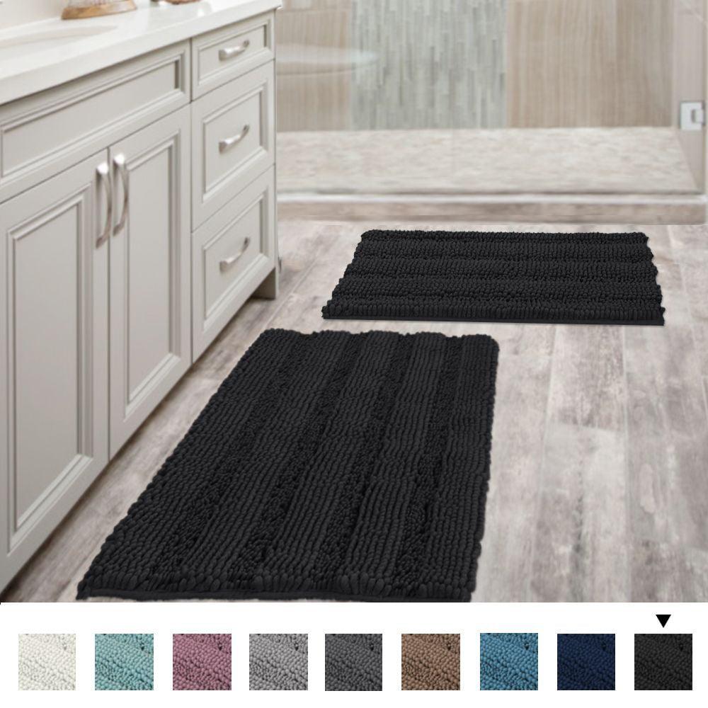 Elegant 3D Flower Pattern Bath Mat Bathroom Carpet Non-Slip Bathroom Floor Rugs