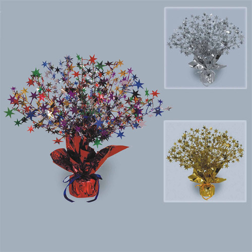Star Gleam 'N' Burst Centerpieces, Pack of 3, Multi-Colored