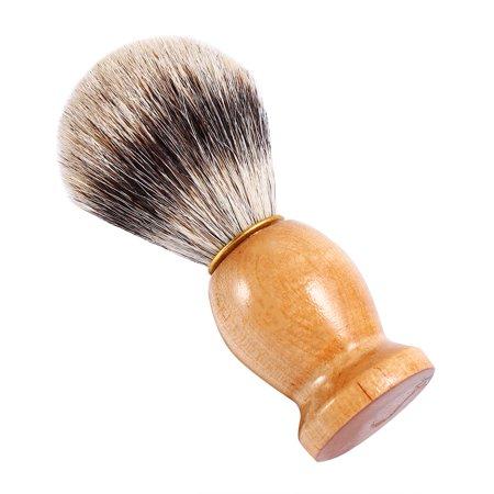 Qiilu 1Pc Men's Professional Wooden Handle Shaving Brush Faux Badger Hair Barber Beauty Tool, Barber Salon Tool,Shaving Brush - image 7 of 8