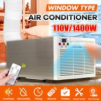 110V 6000BTU Window Air Conditioner Heating Cooling with Remote Control Brushed Gold 2211.68.7inch