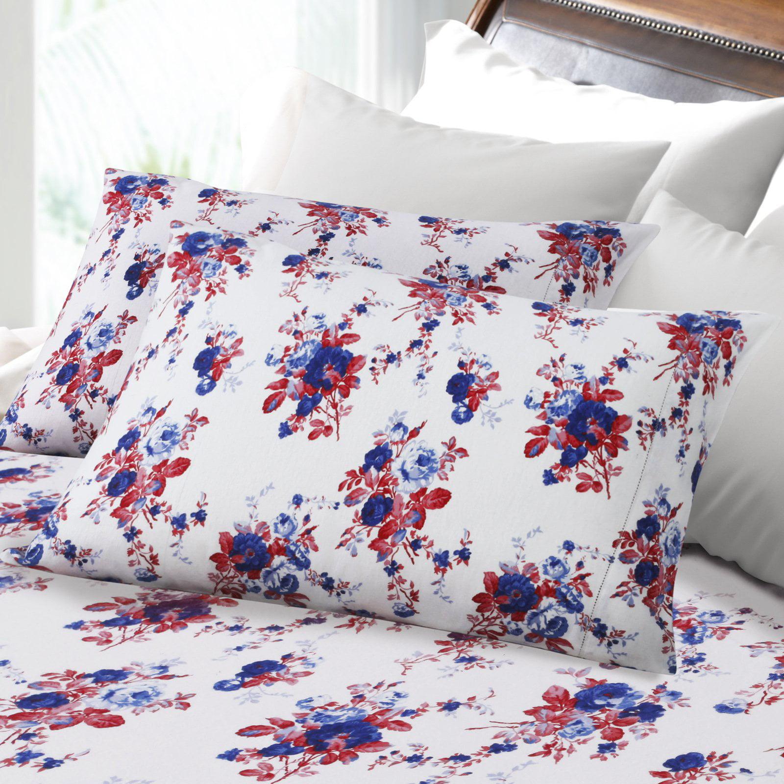Rose Garden Printed Deep Pocket Flannel Sheet Set