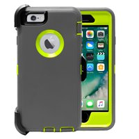 iPhone 6 Case, [Full body] [Heavy Duty Protection] Shock Reduction / Bumper Case with Screen Protector for Apple iPhone 6 (Dark Blue/Green)