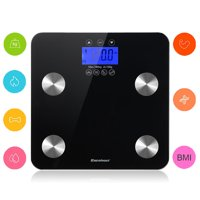 Excelvan Touch 400 lb Digital Body Fat Scale Body Weight,BMI,Fat,Water,Calories,Muscle,Bone Mass Scale.High Precision