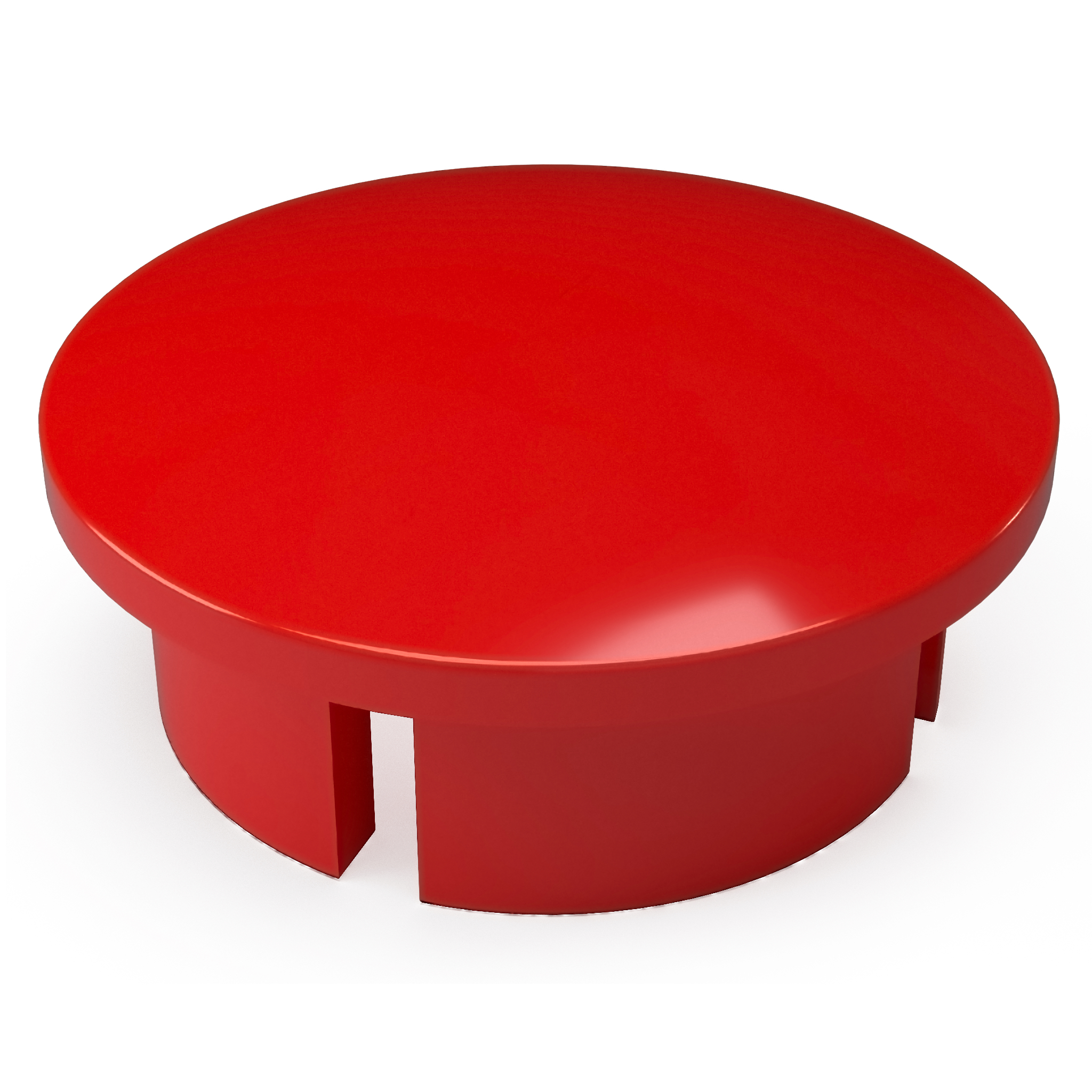 FORMUFIT F034IDC-RD-10 PVC Internal Domed End Cap, Furniture Grade, 3/4 in. Size, Red , 10-Pack