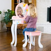 Unicorn Magic Vanity with Mirror and Stool