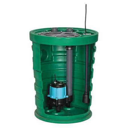 Sewage System,1/2HP,4inx2in,9.5A,20 ft. LITTLE GIANT 10JP2V2D