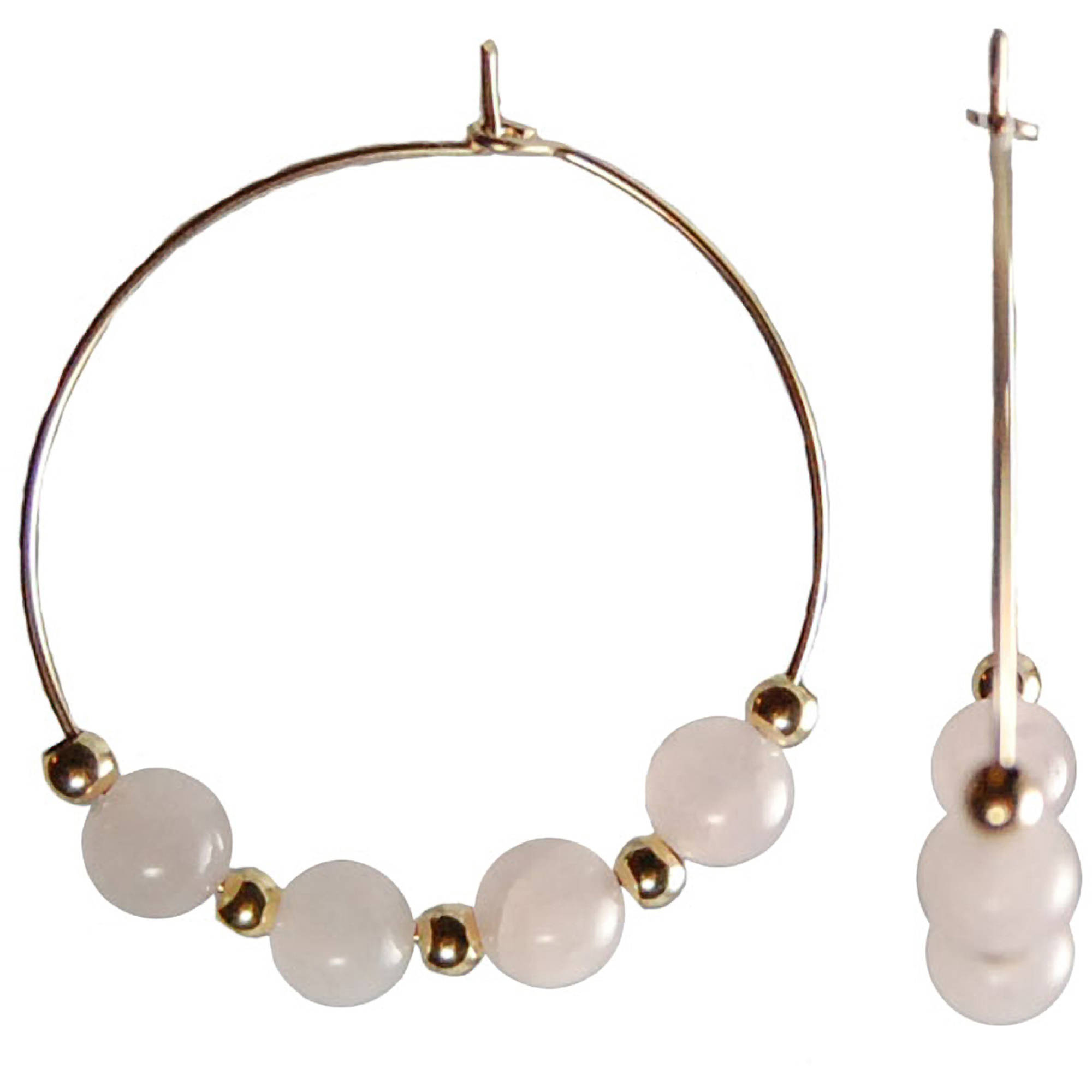 Miss Zoe by Calinana Gold Filled Hoop Earrings In Pink