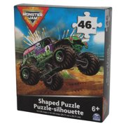Monster Jam 46pc Spin Master (2021) Shaped Silhouette Puzzle