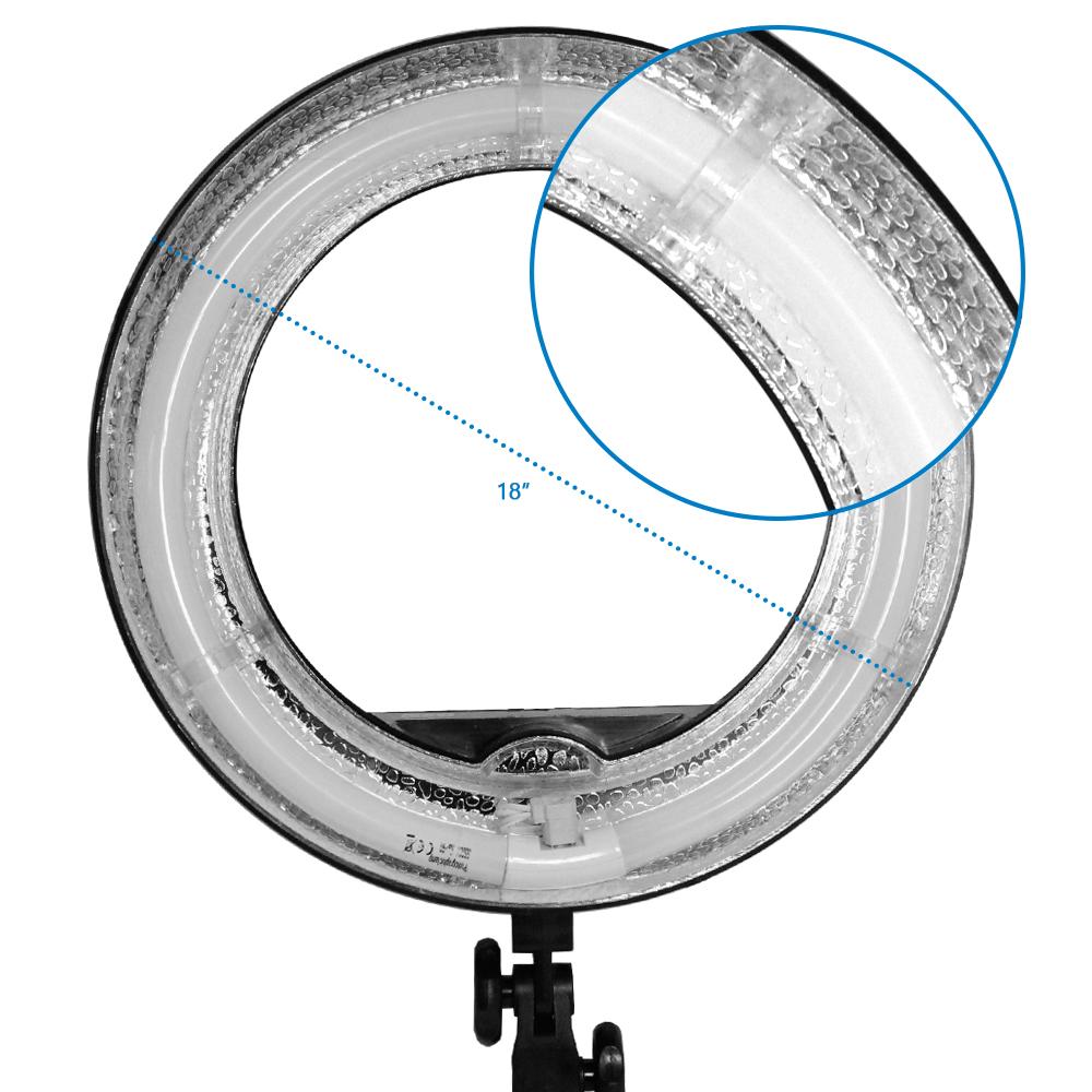Loadstone Studio 18 inch Fluorescent Ring Light 5500K Dim...