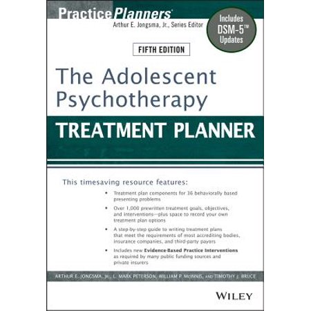The Adolescent Psychotherapy Treatment Planner : Includes Dsm-5 Updates ()