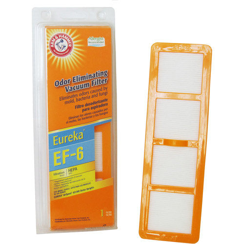 Arm & Hammer Odor-Eliminating HEPA Vacuum Filters for AirSpeed, Eureka EF-6