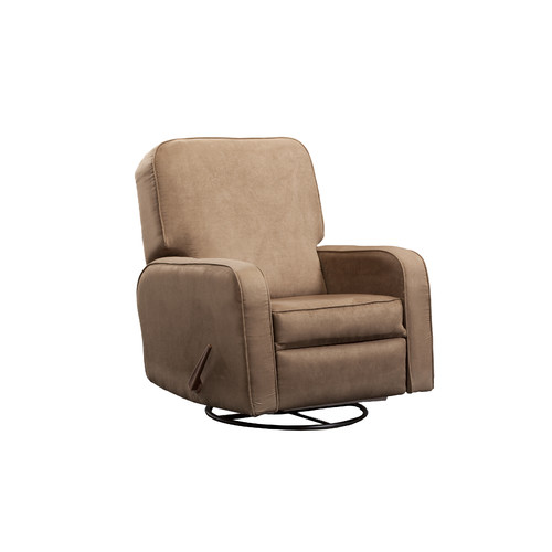 Shermag Upholstered Glider Lever Actuated Recliner