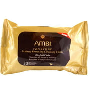 Ambi Even & Clear Make-up Removing Cloths, 30 Count (Pack of 2)