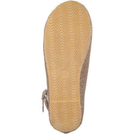 Brinley Kids Toddler Girl's Faux Leather Tassel Glitter Ankle Strap Dress Shoes