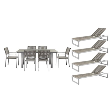 Pangea Home Bella Aluminum 11 Piece Patio Set ()