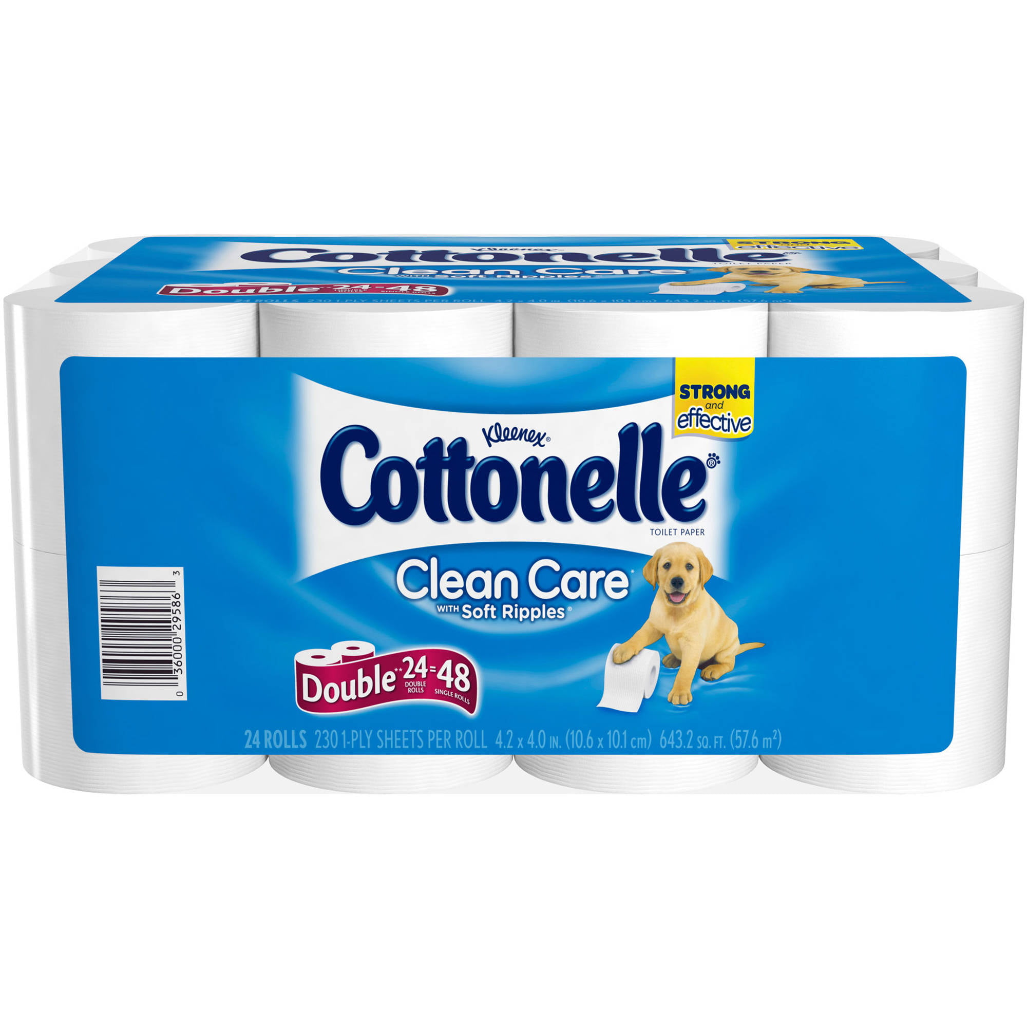 Cottonelle Clean Care Double Roll Toilet Paper, 190 sHeets, 24 ct by KIMBERLY-CLARK