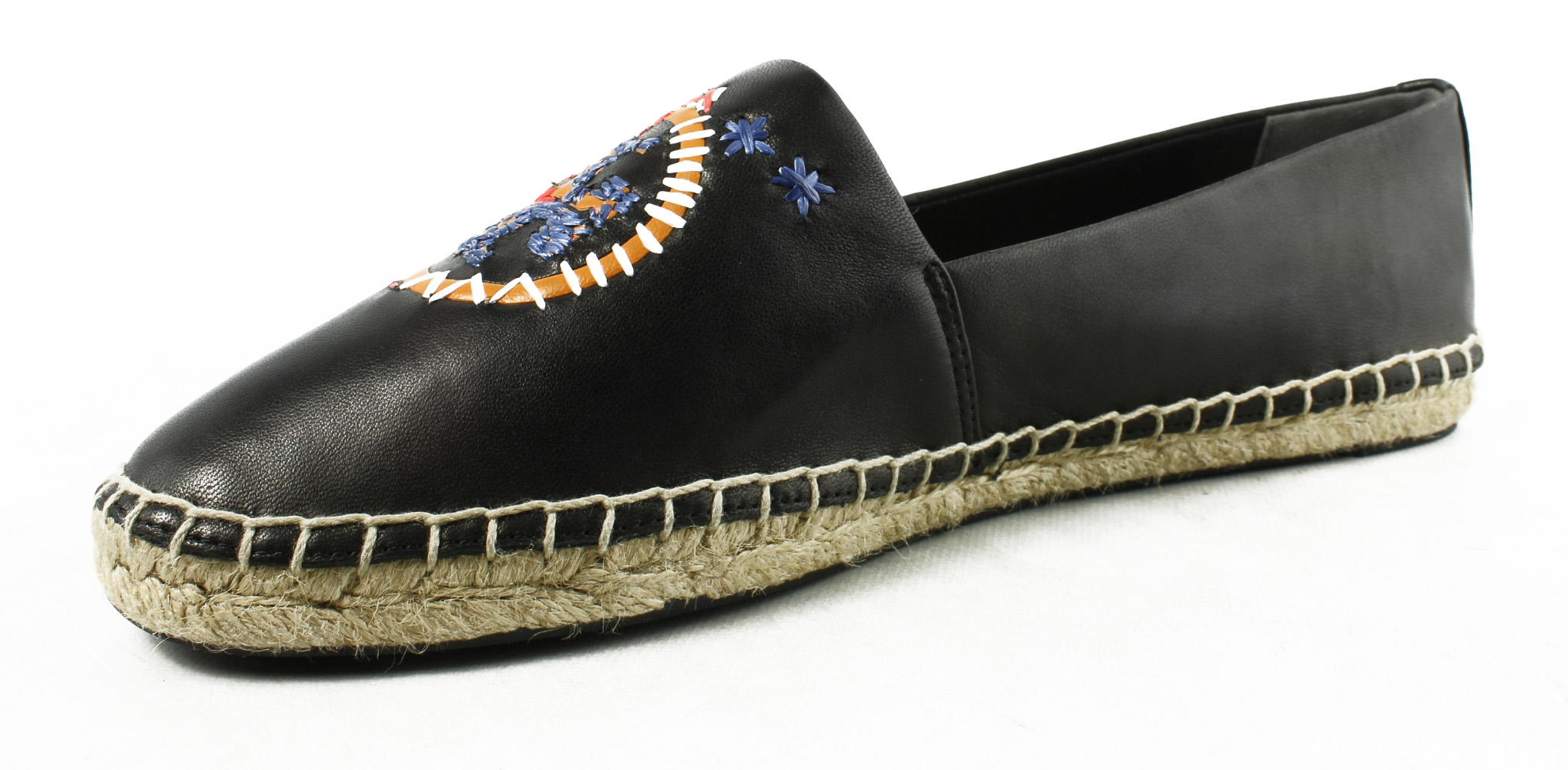 Tory Burch Womens  Black Espadrille Flats Size 9.5 New