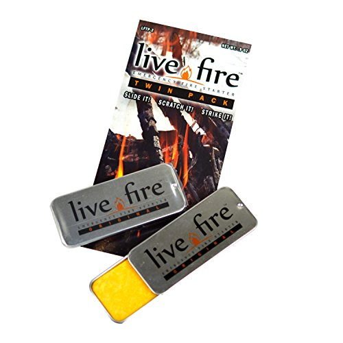 Live Fire Twin Pack Emergency Fire Starter by Live Fire