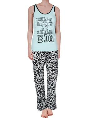 eee74b995 Product Image Hello Kitty Womens Juniors Kitty's Dream 3PC Sleeveless  Pajama Set