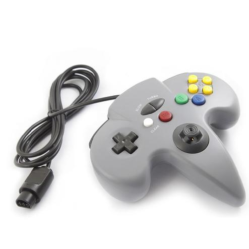 New Gray Controller Game System for Nintendo 64