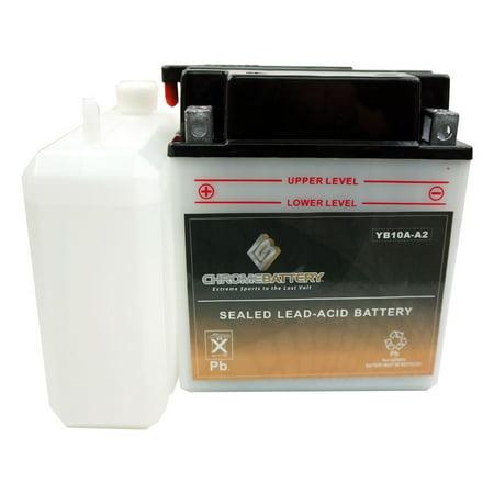 YB10A-A2 ATV Battery for KAWASAKI KLF220-A Bayou Year (88-02) ()