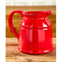 The Lakeside Collection Ceramic Country Crock Vases Red