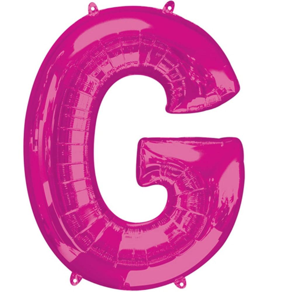 """Giant Pink Letter G Foil Balloon 32"""""""