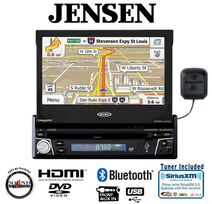 Jensen VX7012 7'' DVD receiver w  built in Bluetooth and SiriusXM Tuner by Jensen
