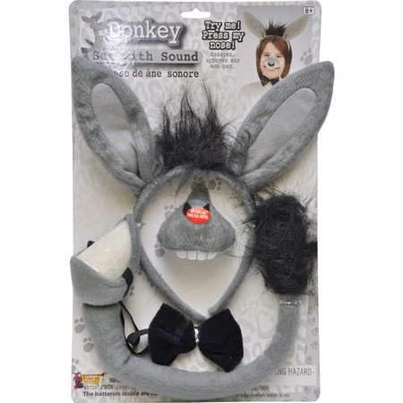 Morris Costumes Accessories & Makeup Donkey Animals Set With Sound, Style FM61733 - Costume Makeup Tips