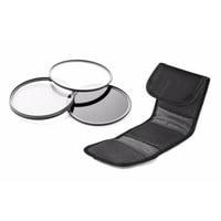 Panasonic HDC-HS20K High Grade Multi-Coated, Multi-Threaded, 3 Piece Lens Filter Kit (43mm) + Nwv Direct Microfiber Cleaning Cloth.
