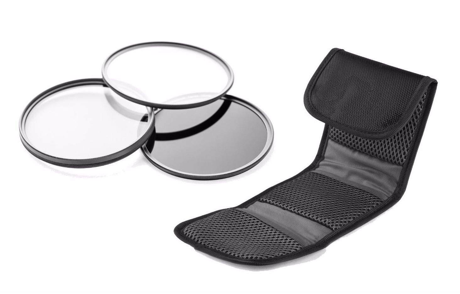 High Grade Multi-Coated + Ring Multi-Threaded 52mm K 41.5-52mm + Lens Cap + Nw Direct Microfiber Cleaning Cloth 52mm Panasonic HDC-TM90 3 Piece Lens Filter Kit
