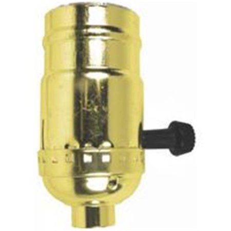 Socket Turn Knob 3 Way Brass 60409