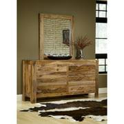 Modus Furniture International Atria 6-Drawer Dresser, Natural Brown