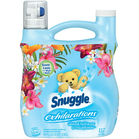 Fabric Softener (Snuggle Exhilarations Liquid Fabric Softener, Island Hibiscus & Rainflower, 96 Ounce, 112 Loads )