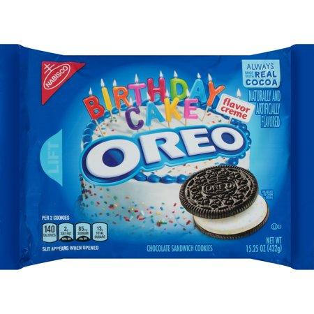 Nabisco Oreo Birthday Cake Chocolate Sandwich Cookies, 15.25 Oz. ()