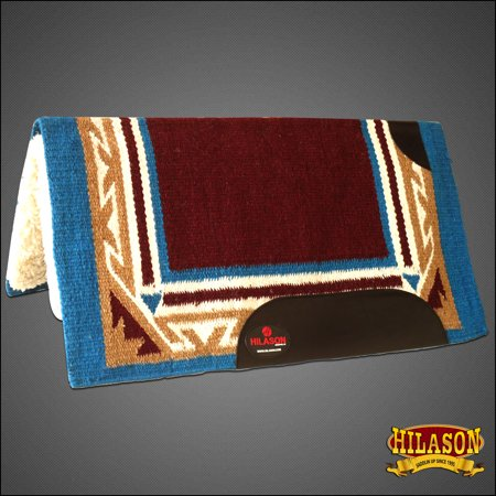Made In Usa Hilason Western Wool Felt Saddle Blanket Pad Brown