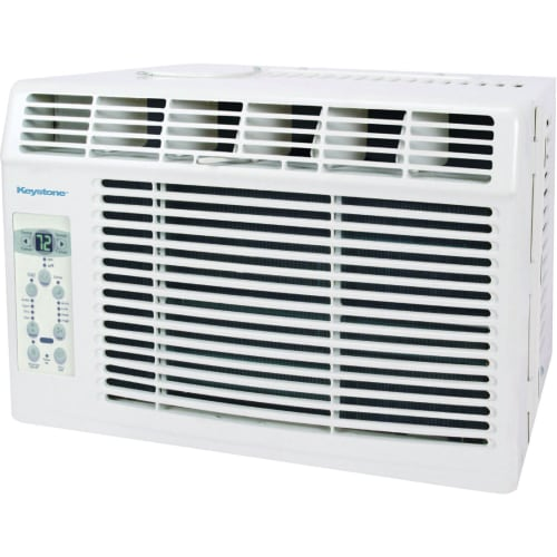 "Keystone KSTAW05B 5,000 BTU 115V Window-Mounted Air Conditioner with ""Follow Me"" LCD Remote Control"
