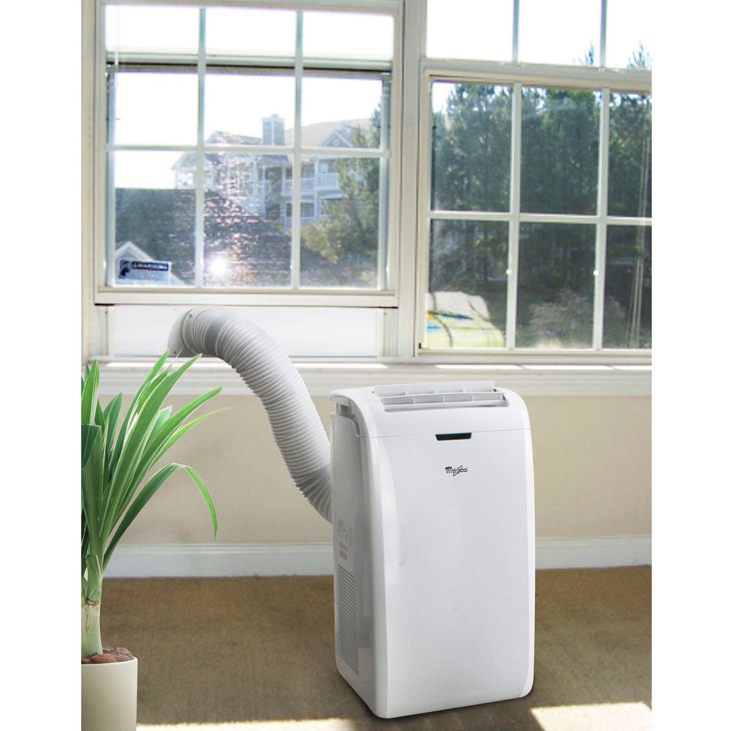 Whirlpool ACP122GPW1 12,000-BTU Room Portable Air Conditioner w ...