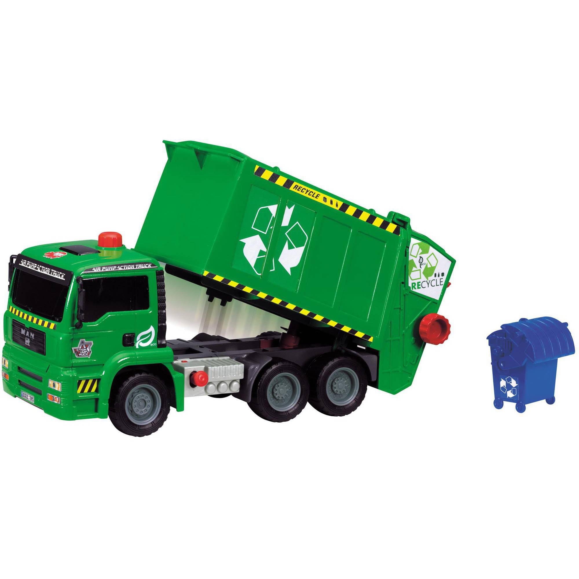"""Dickie Toys 12"""" Air Pump Garbage Truck by Dickie Toys"""
