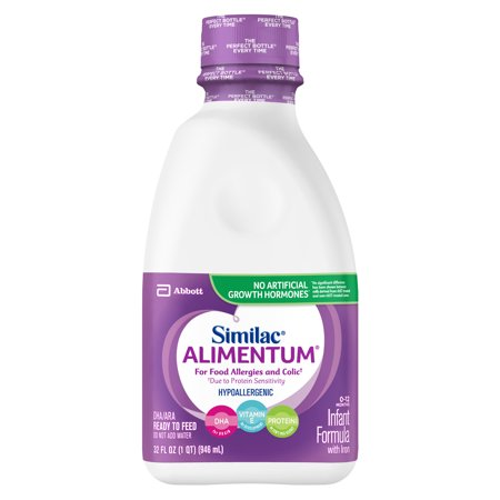 Similac Alimentum Hypoallergenic Infant Formula for Food Allergies and Colic, Baby Formula, Ready to Feed, 1