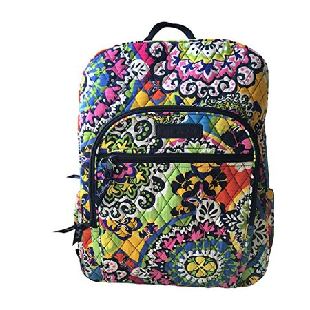6d14fdd5e6a Vera Bradley Campus Backpack in Rio with Navy Interior - Walmart.com